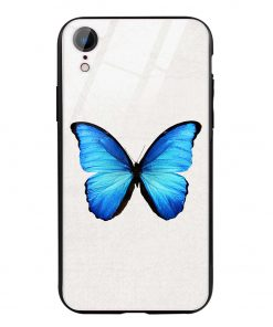 Butterfly iPhone XR Glass Case Cover