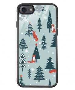Christmas Tree iPhone 8 Glass Case Cover