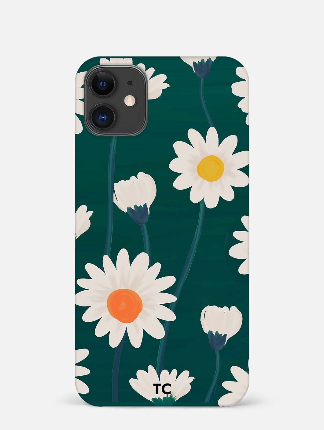 Hand Drawn Daisy iPhone 12 Mini Mobile Cover