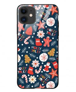 Holly Jolly iPhone 12 Mini Glass Case Cover
