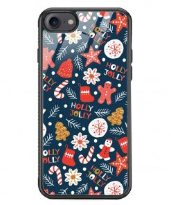 Holly Jolly iPhone 8 Glass Case Cover