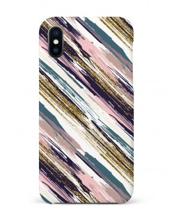Color Stripess iPhone Xs Max Mobile Cover