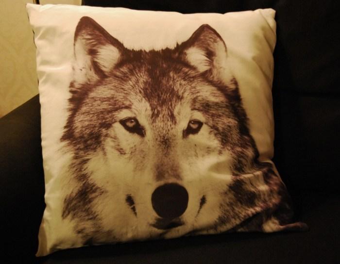 wolf pillow