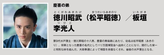 徳川昭武役の板垣李光人