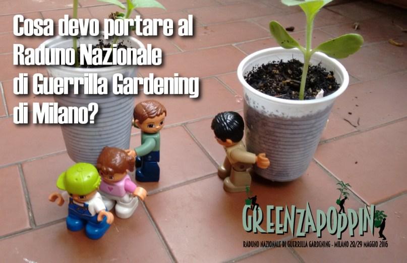 cosa devo portare guerrilla gardening