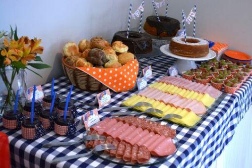 mesa de frios para festa