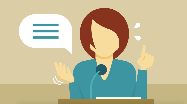O medo de falar em público