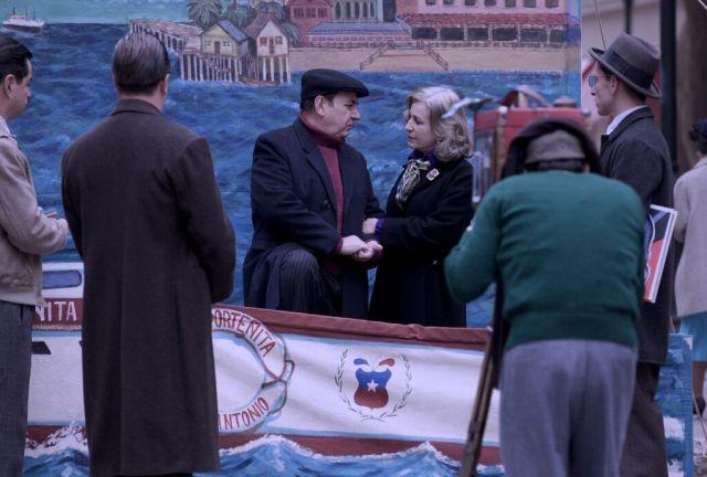 Un momento del rodaje de 'Neruda', de Pablo Larrain