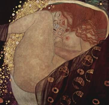 Danae, de Klimt. Pelirroja, con los motivos dorados de la imagen de Red. Fuente (3)