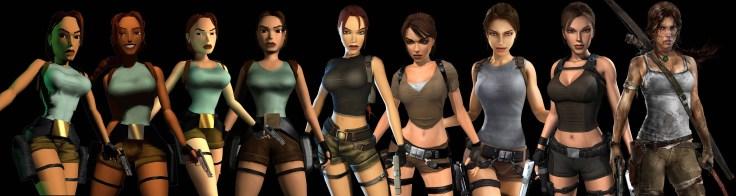 Evolución del diseño de Lara en los diferentes Tomb Raider.