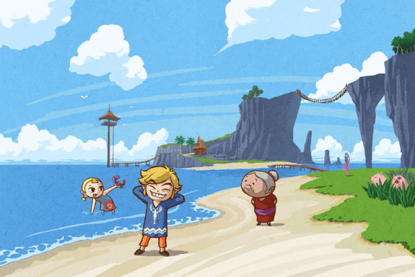 The_Wind_Waker_Artwork_Link_&_his_Family_on_Outset_Island_(Offical_Artwork)