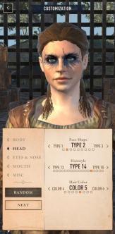Customización del personaje (captura propia)
