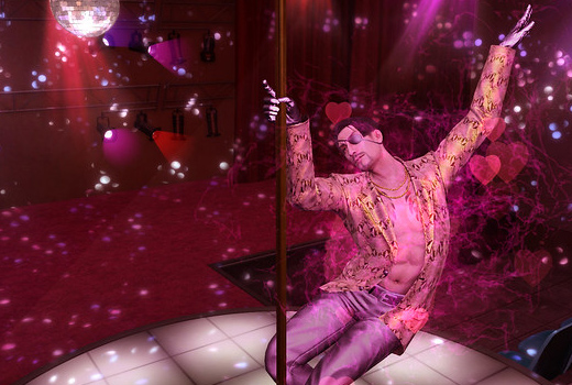 Majima pole dance