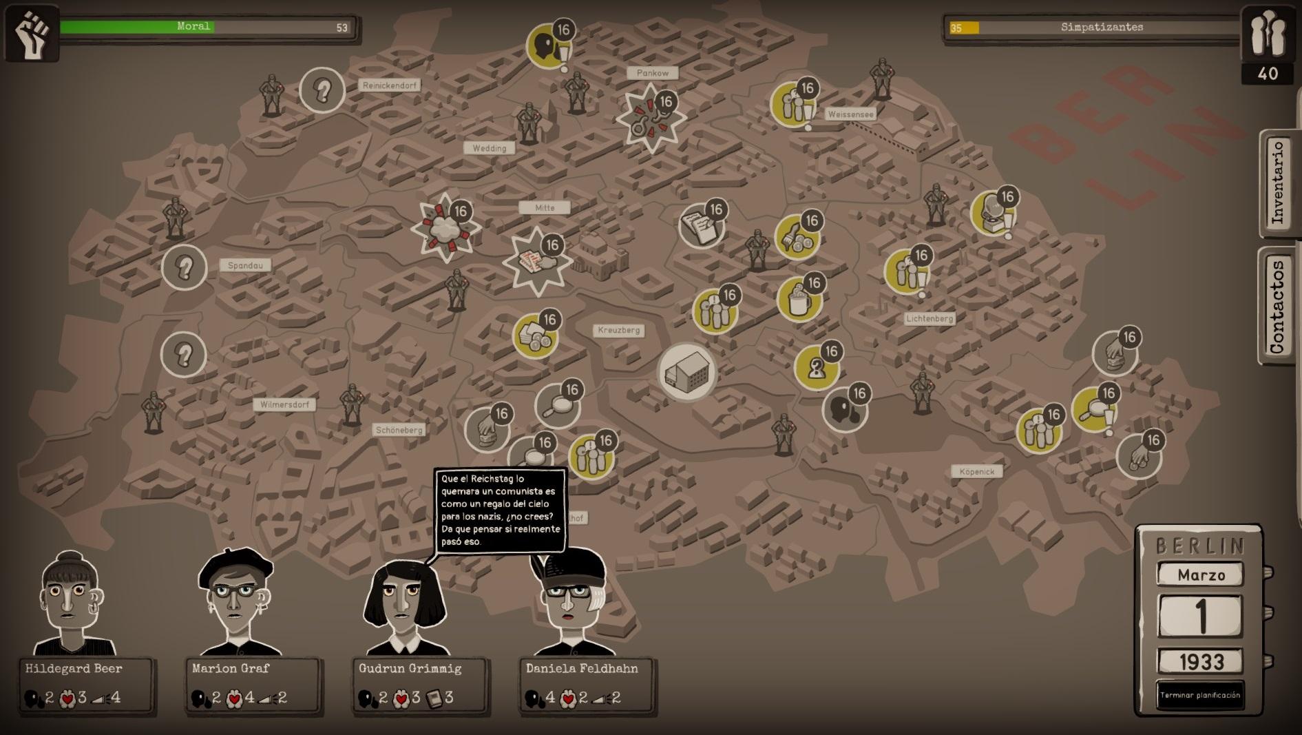 Mapa de turnos