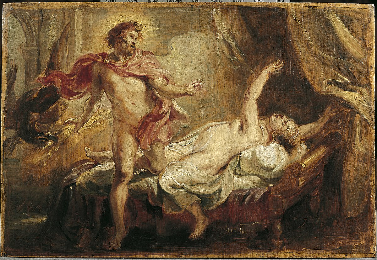 Cuadro Muerte de Semele de Peter Paul Rubens