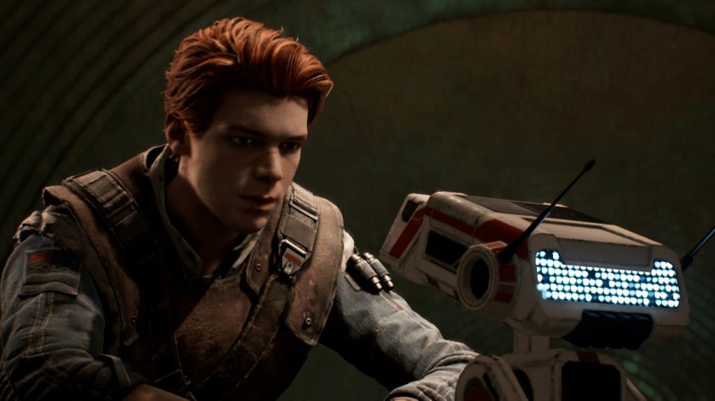Protagonista Cal con el robot BD1