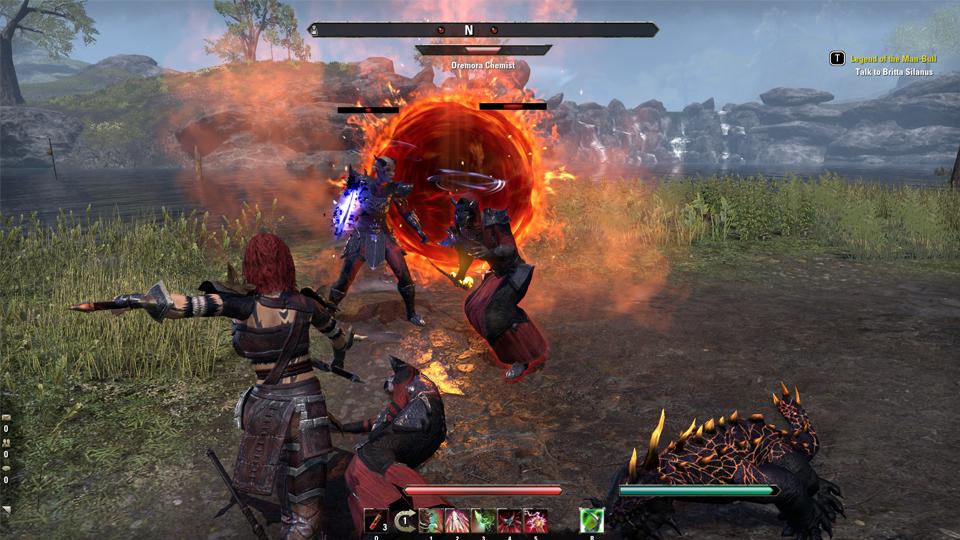 combate frente a un portal daédrico