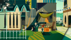Imagen del videojuego Cris Tales, aparece el pasado de la ciudad de Narim