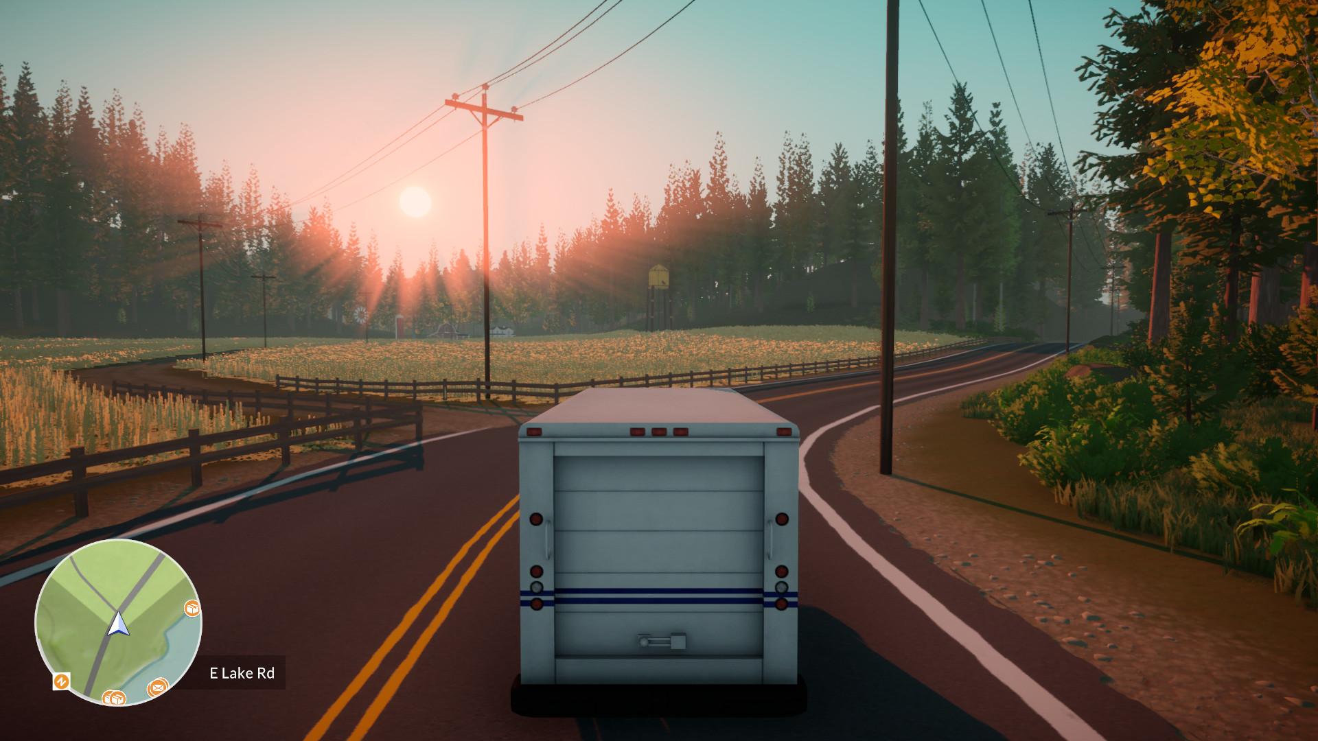 Ruta de reparto en camión