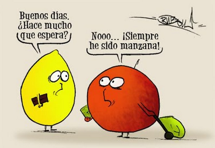 chiste pera manzana
