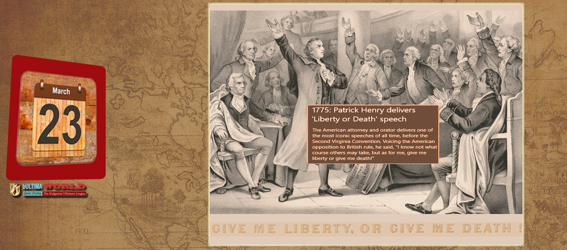 Patrick Henry sounded one of the most famous calls to arms in