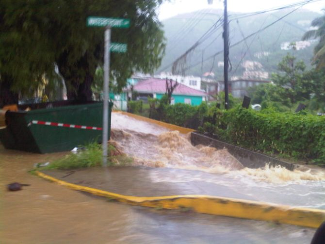 Three flood-prone communities in the British Virgin Islands to get help (Photo via Caribbean News Service)