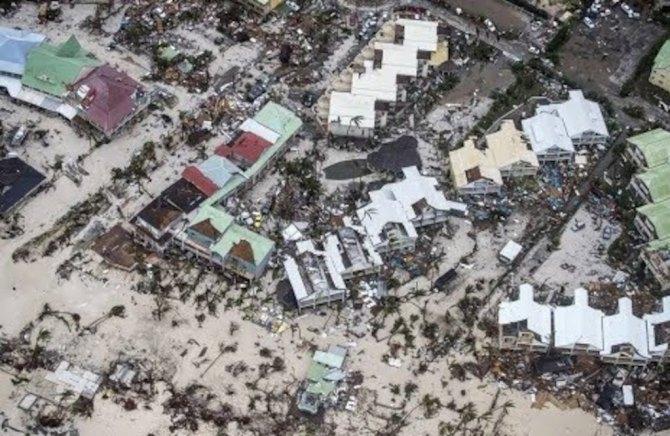 Aftermath of Hurricane Irma in Tortola, BVIs (Photo via OECS)