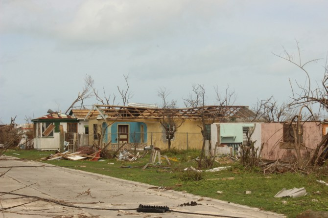 What's left of buildings in Barbuda after Hurricane Irma made landfall in September