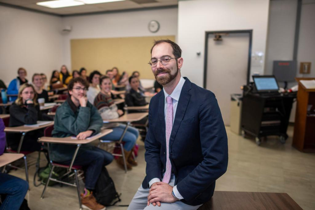 William Nitzky, the University's 2018-19 Outstanding Research Mentor