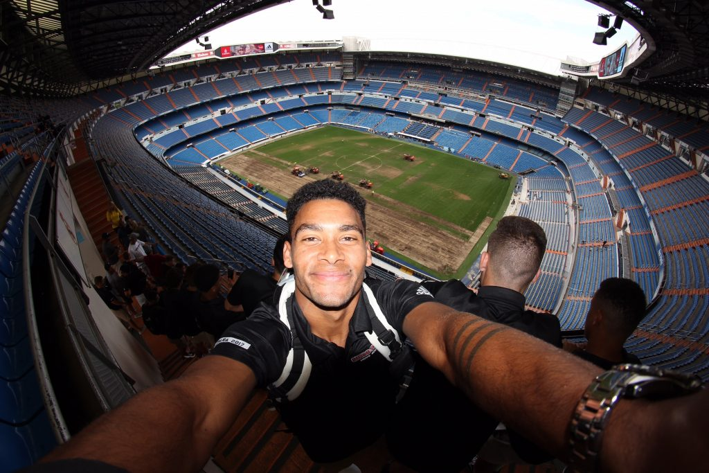 The Chico State men's soccer team toured Estadio Santiago Bernabéu, home to Real Madrid CF, and were thrilled to be at the site of many of their childhood soccer heroes.