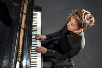 Cole Richards playing the piano.