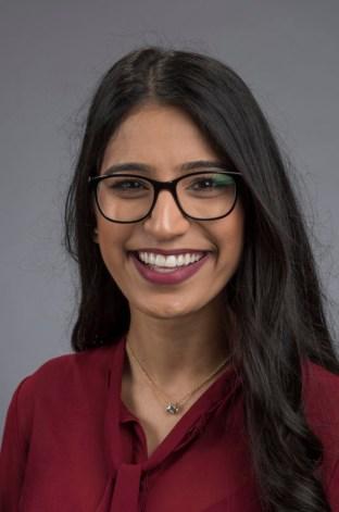 Amandeep Kaur Gill smiles for a portrait