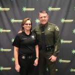 Jennifer Celentano poses with Sheriff Kory Honea.