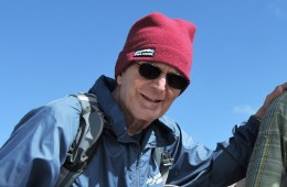 Ralph Hilzer stands at the top of Mount Lassen.