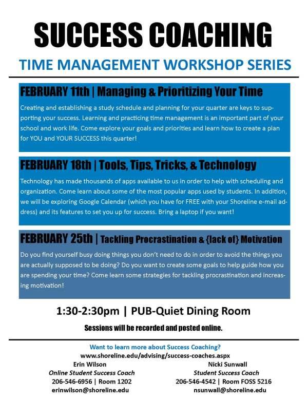 Time Management Workshop Series - WQ 2016