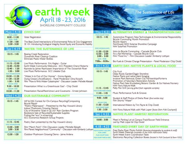 EarthWeekProgram-Schedule final 2016