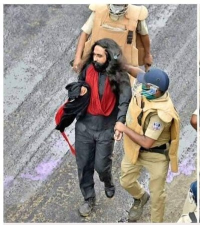 Sikh man turban pulled in West Bengal protestss