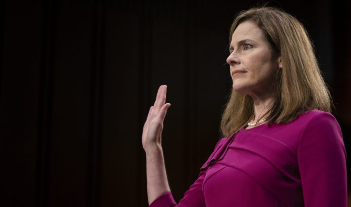 Amy Coney Barrett fends off abortion questions