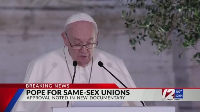 Pope Francis vouches for same-sex unions