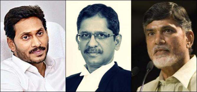 Andhra Pradesh CM against Judge Ramana