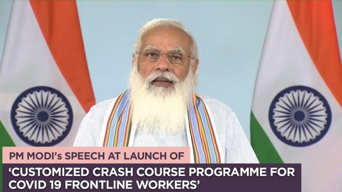 PM Modi Launches Customized Crash Course Program for Frontline Workers