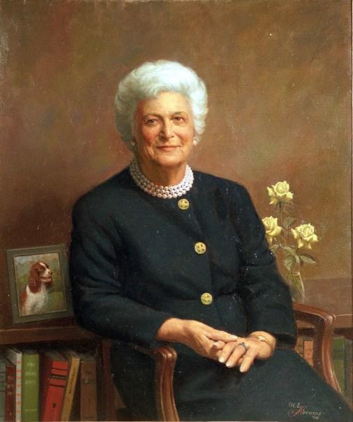 First Lady Barbara Bush, by Herbert E. Abrams.