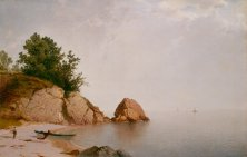"John Frederick Kensett, ""Beach at Beverly,"" c. 1872 (National Gallery of Art)"