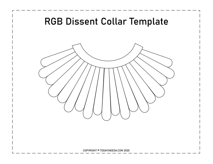 Ruth Bader Ginsburg Dissent Collar Template
