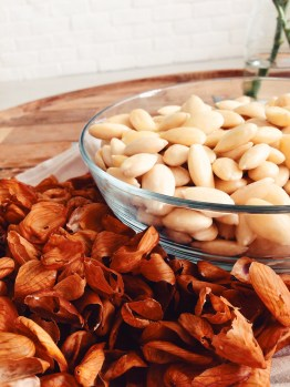 It's easy to skin almonds