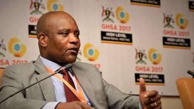 Africa CDC Director Dr. John Nkengasong in a panel discussion at the Global Health Security Agenda Ministerial Meeting in Kampala