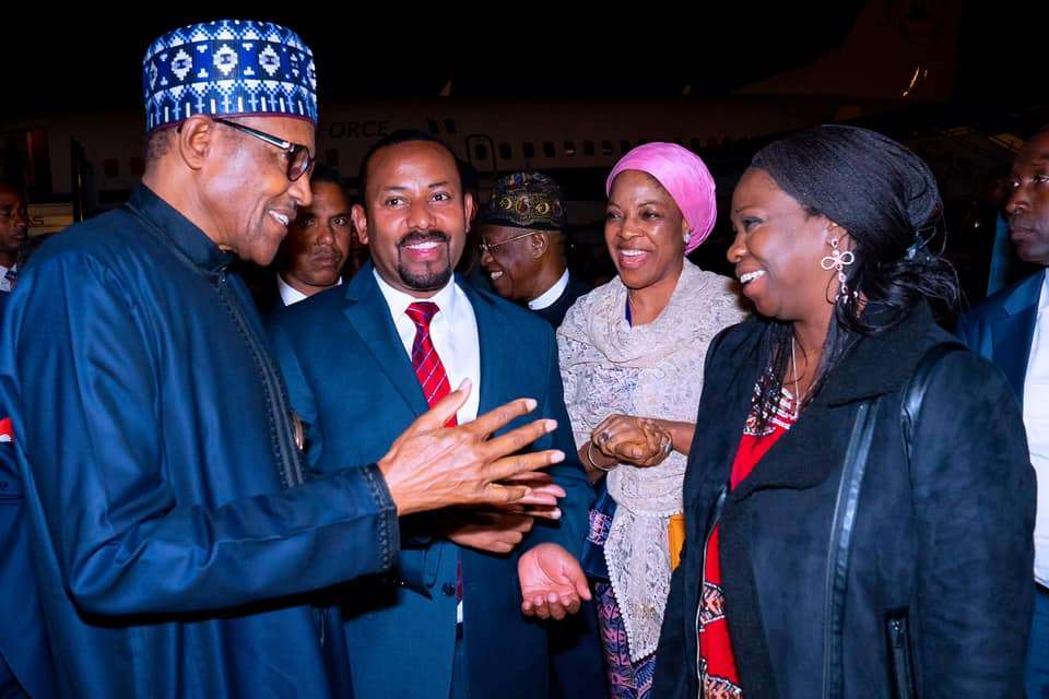 President Buhari arrives Addis-Ababa Ethiopia ahead of 33rd Ordinary Session of the Heads of State and Government of the African Union (AU) on 7th Feb 2020