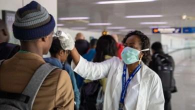 Passenger screening at Maya Maya International airport