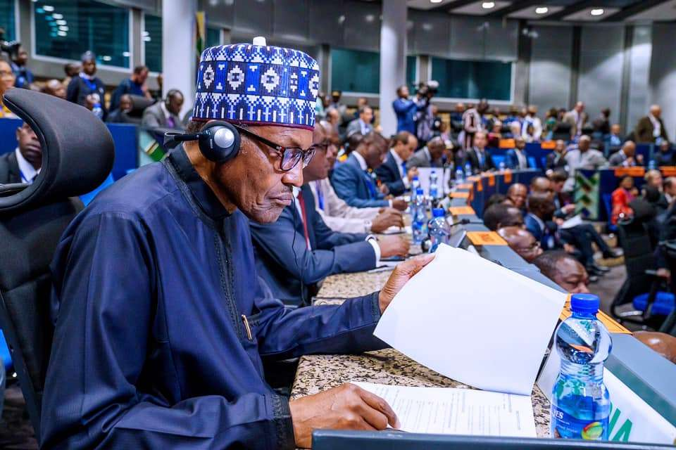 President Buhari at the 29th Forum of Heads of State and Government of Participating States of the African Peer Review Mechanism (APRM) at the AU Summit in Addis Ababa on 8th Feb 2020