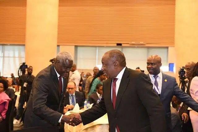 Ramaphosa and faki